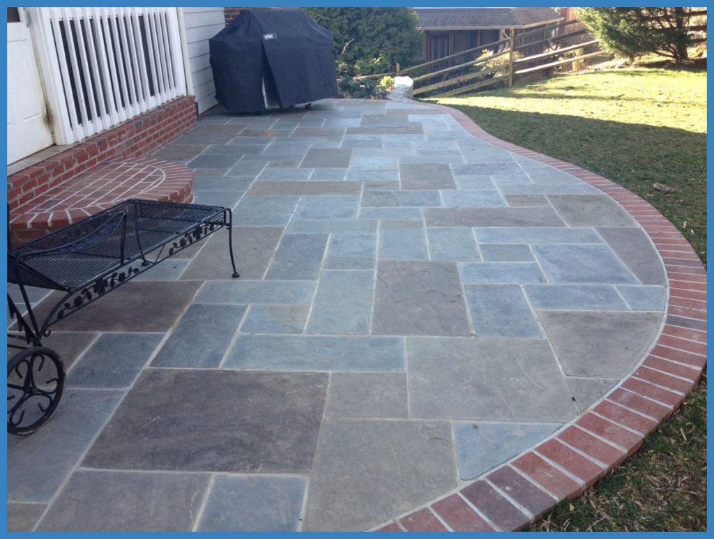 Curvy Stone Patio